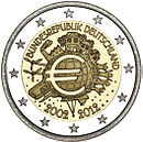 2 Euro Euroeinführung Bargeld
