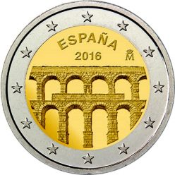 2 Euro Spanien 2016 Segovia