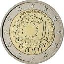 Europaflagge 2015 2 Euro Belgien