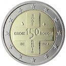 Belgien 2014 2 Euro Münze 150 Jahre Jubiläum Rotes Kreuz