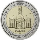 Deutschland-2009-2-Euro-Münze-Saarland-Ludwigskirche