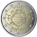 Euroeinführung 2 Euro Spanien 2012