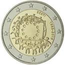 Europaflagge Estland 2015 Gemeinschaftsserie 2 Euro