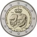 2 Euro Luxemburg 2014 50 Jahre Thronbesteigung Großherzog Jean