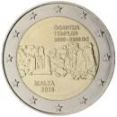 Malta 2016 2 Euro Münze Ggantija Tempel