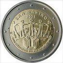 San Marino 2008 2 Euro Münze Interkultureller Dialog