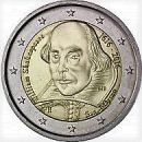 San Marino 2016 2 Euro Münze 400 Todestag William Shakespeare