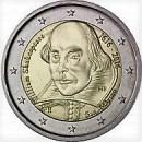 San Marino 2016 2 Euro Münze 400 Todestag William Shakespeare