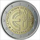 2 Euro Slowakei 2014 Münze 10 Jahre EU Beitritt