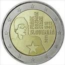 Slowenien 2011 2 Euro Münze Franc Rozman