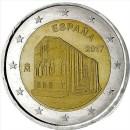 2 Euro Spanien 2017 Münze Asturien Unesco Weltkulturerbe Kirchen von Asturien