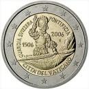2 Euro Vatikan 2006 Münze 500 Jahre Schweizer Garde
