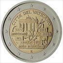 Vatikan 2014 2 Euro Münze 25 Jahre Mauerfall Berlin