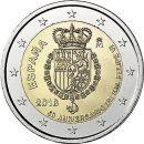 Spanien 2018 2 Euro König Felipe Geburtstag