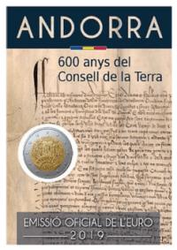 Andorra 2019 2 Euro 600 Jahre Generalrat im Blister