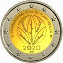 Belgien 2020 2 Euro Jahr der Gesundheit Planet Health