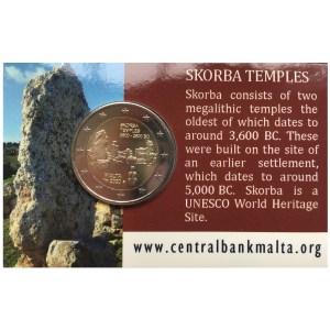 Malta 2020 2 Euro Tempel von Skorba in Coincard