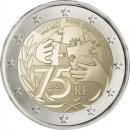 Frankreich 2021 2 Euro 75 Jahre Unicef