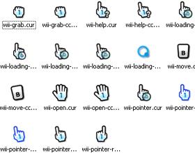 Wii desktop cursors