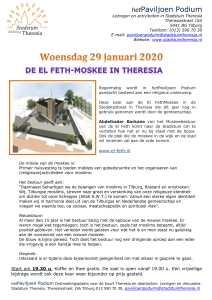 Paviljoen Podium: de El Feth moskee in Theresia @ Stadstuin Theresia