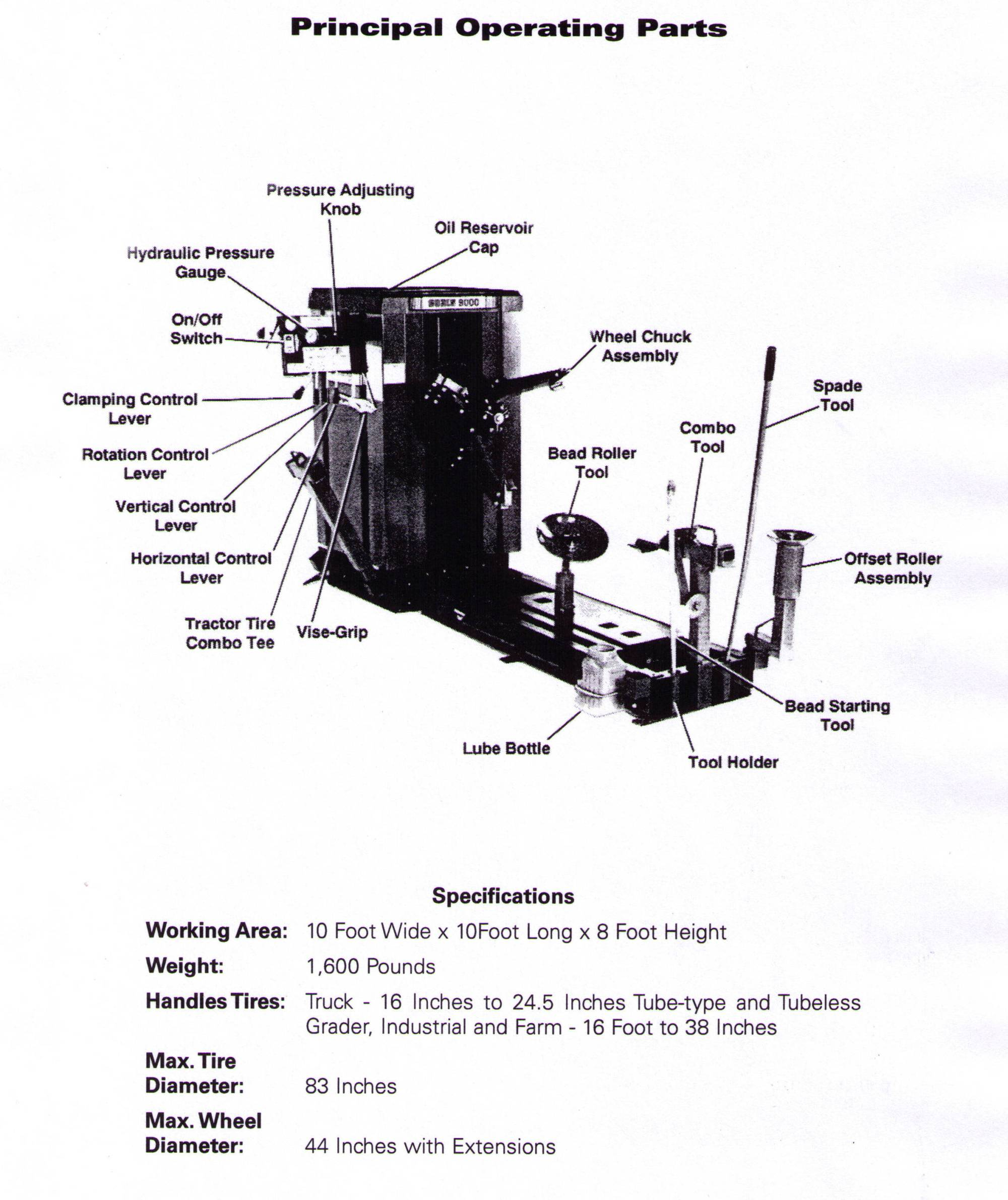 hight resolution of coats 9000 series truck tire changer