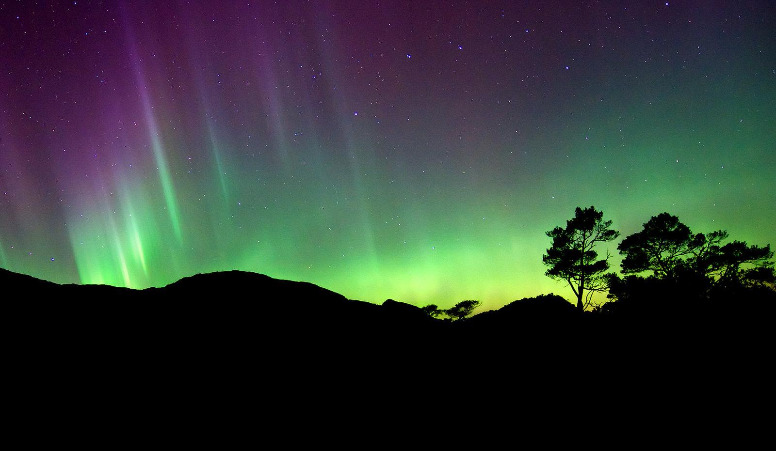 Nordlys på Åsebø