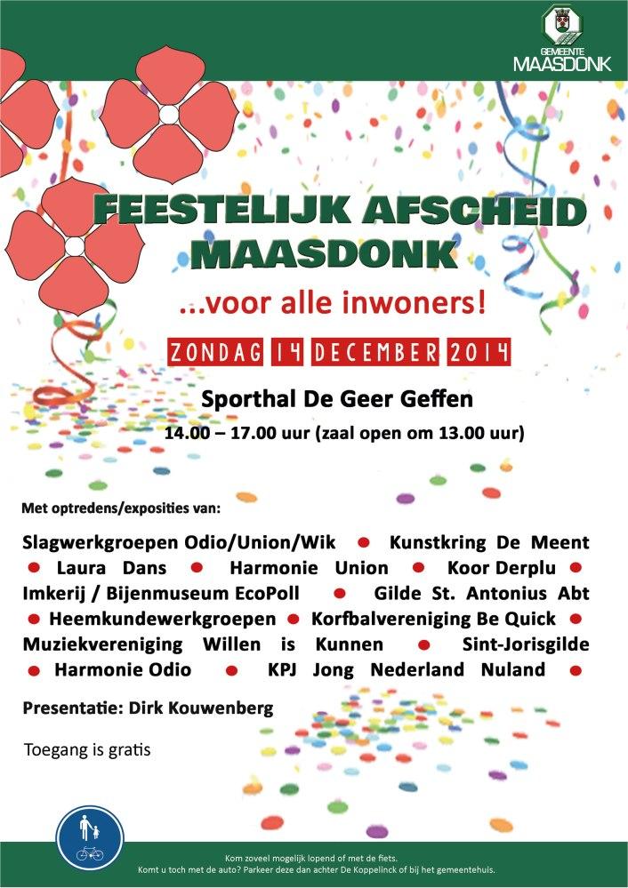 Afscheid gemeente Maasdonk