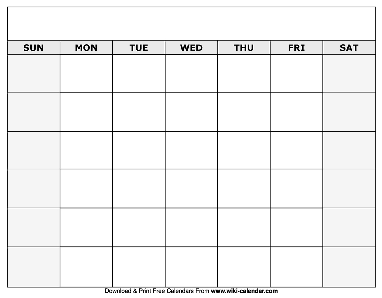 Use one monthly calendar or a series to note dates for an ongoing project, like a basement remodel or continuing education course. Printable Blank Calendar Templates