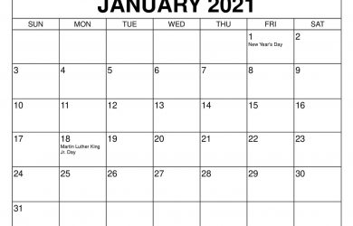 Download and print calendars for 2020, 2021 - Wiki Calendar