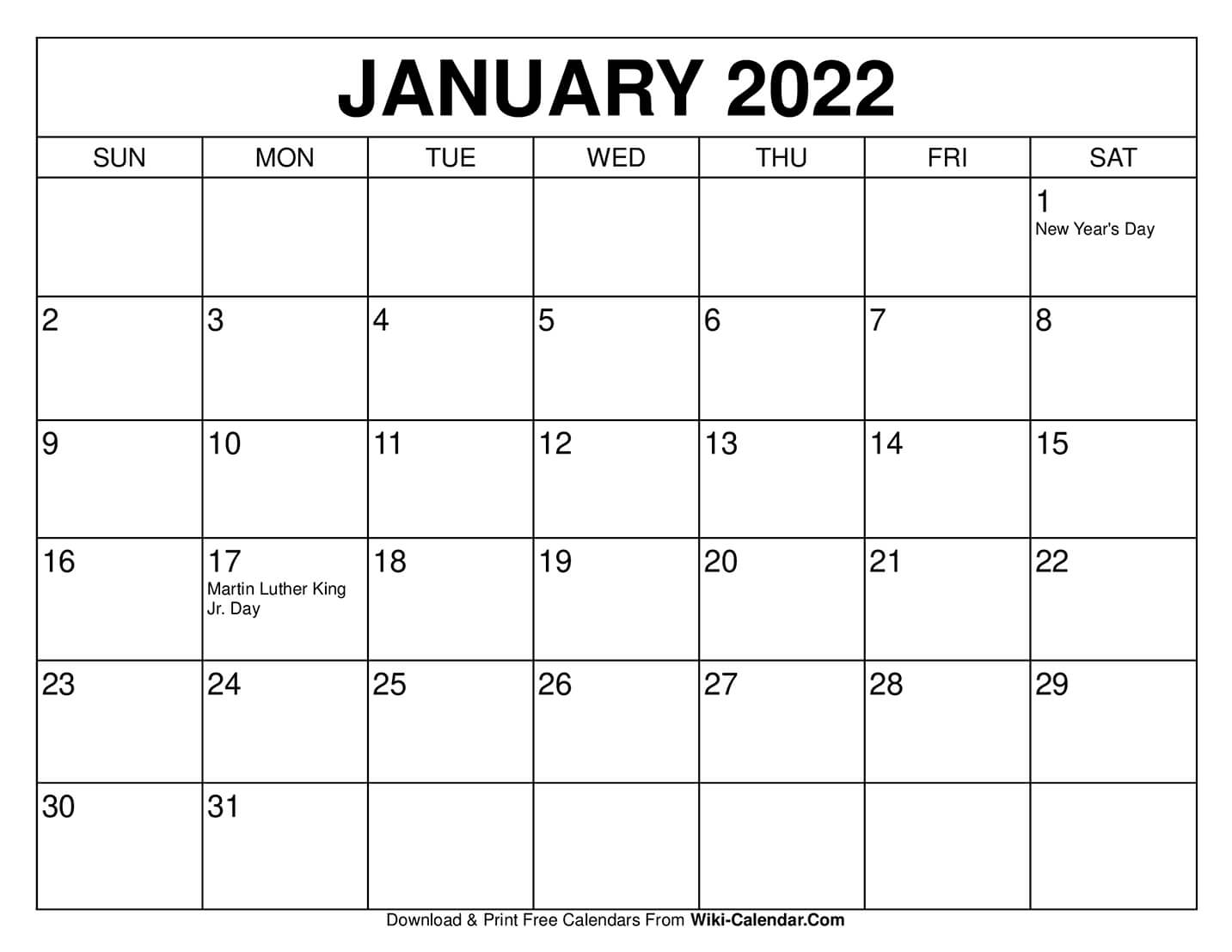 Remembering to pay your bills each month isn't always easy, especially when your bills are d. Free Printable January 2021 Calendars