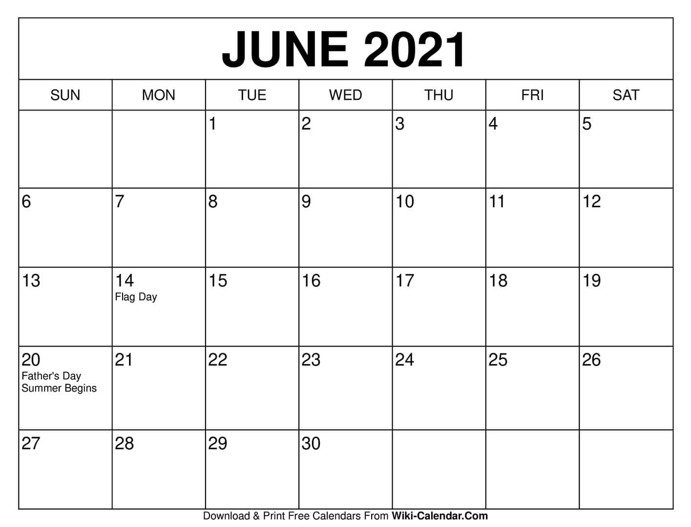 July Calendar 2021 Wiki - April 2021
