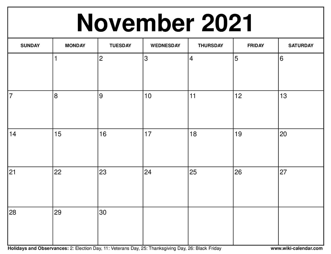 It's easy to get distracted. Free Printable November 2021 Calendars