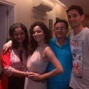 Ankita Lokhande with her parents & brother
