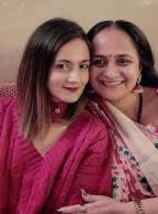 Shweta Rohira with her mother