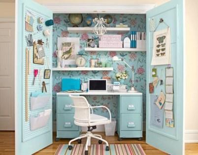 mueble azul cuarto costura