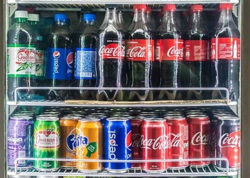 Soft drinks in store