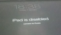 Reset disabled iphone or ipad passcode