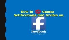 Block Games Notifications on Facebook