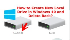 How to Create New Local Drive in Windows 10