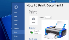 How to Print Document in Word 2016