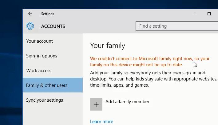 microsoft windows family