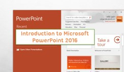 Introduction to Microsoft PowerPoint 2016