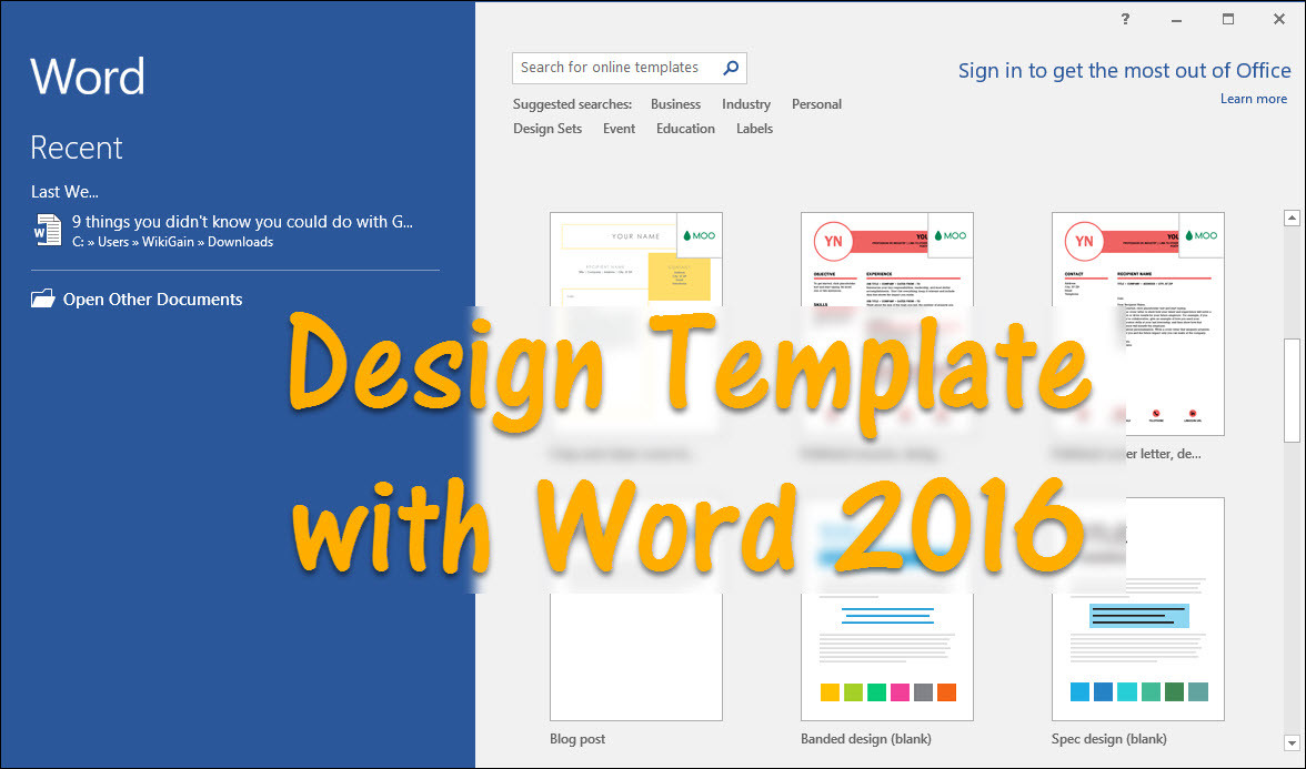 How to design template with word 2016 wikigain pronofoot35fo Gallery