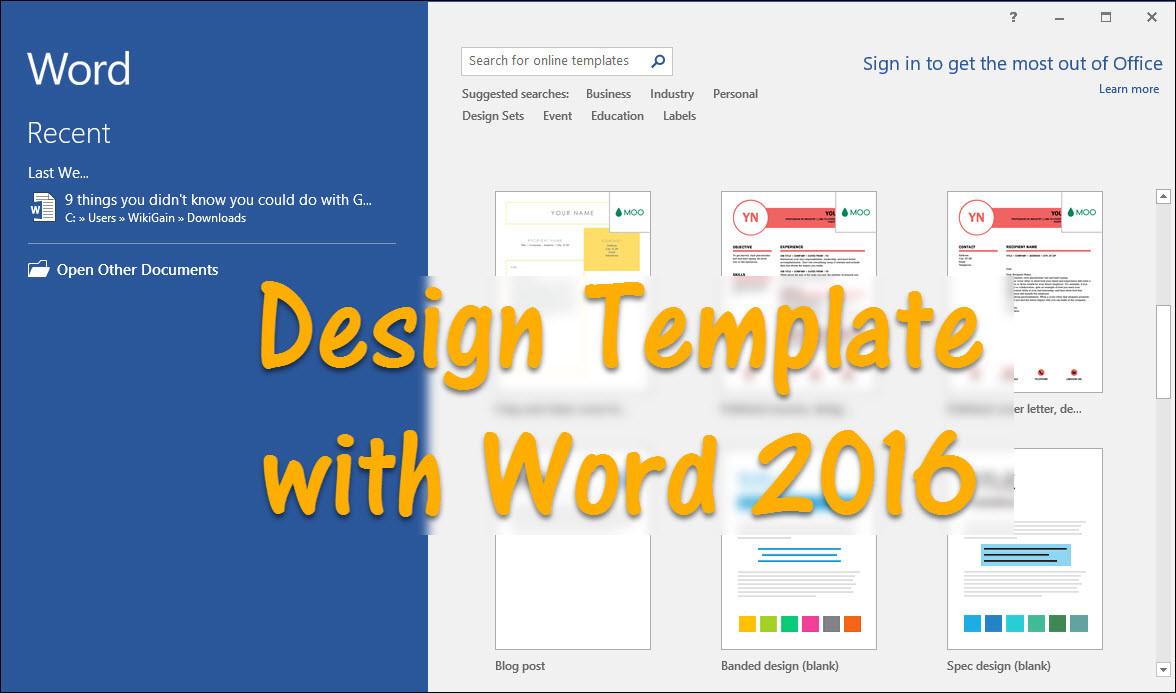 word document designs