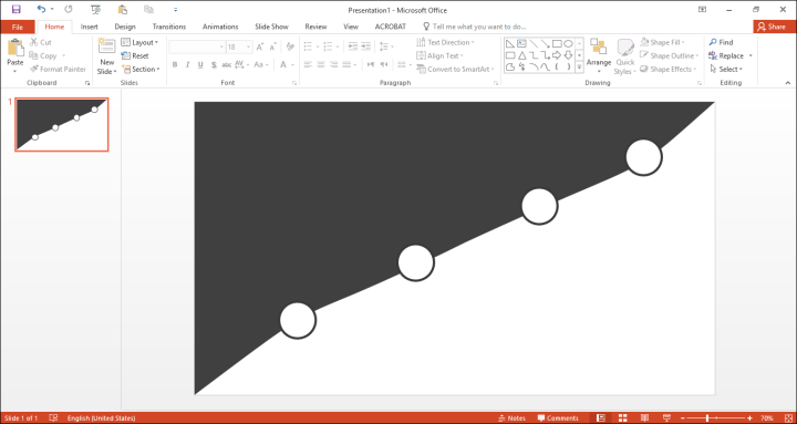 How to create a slide with custom shapes in PowerPoint?