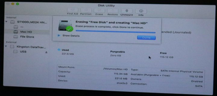 """Fix """"Erase Process has Failed"""" While Erasing Partition for Mac OS on Disk Utility"""