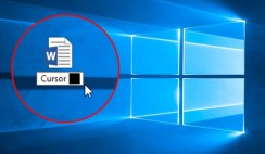 How to Determine Cursor thickness for Microsoft office 2016