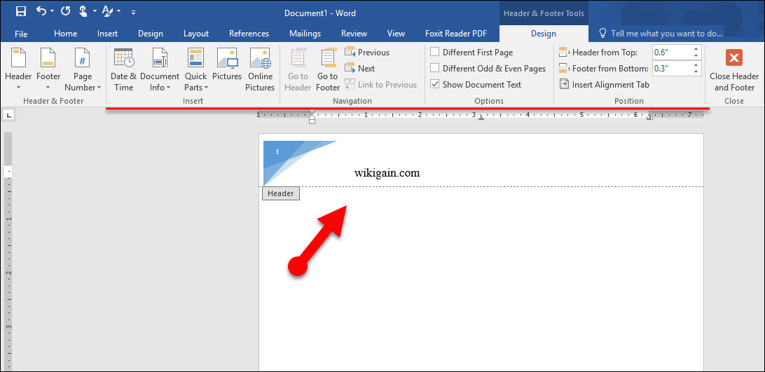 word how to add page number to header
