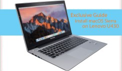[Exclusive Guide] Install macOS Sierra on Lenovo IdeaPad U330/U430/U530