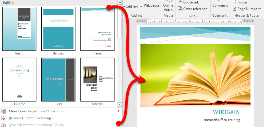 How to Insert Page-Section Break in Microsoft Word 2016 - wikigain